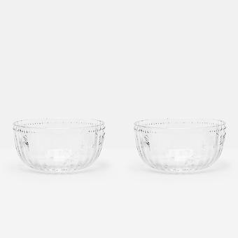 Joules Set of 2 Bee Glass Bowls