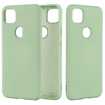 For Google Pixel 4a Pure Color Liquid Silicone Shockproof Full Coverage Case(Green)