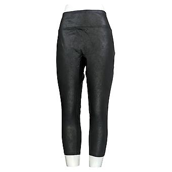 All Worthy Hunter McGrady Petite Leggings Faux Leather Black A387466