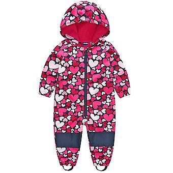 Kinder / Jungen Softshell Jumpsuit, Mädchen Overalls mit Fleece Futter, winddicht &
