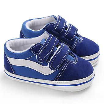 Newborn Baby Shoes Pre-walker Soft Sole Pram Canvas Sneakers Trainers Casual