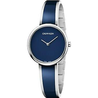 Calvin Klein Seduce Blue Dial Stainless Steel Strap Ladies Watch K4E2N11N