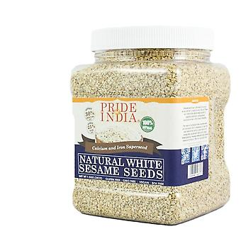 White Sesame Seeds Raw Unhulled Calcium & Iron Superfood Jar
