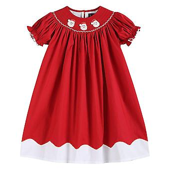 Santa Smocked Bishop Dress