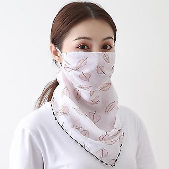 Women Face Mascarillas Wraps Floral Print Lady Silk Neck Scarves Reusable Masks