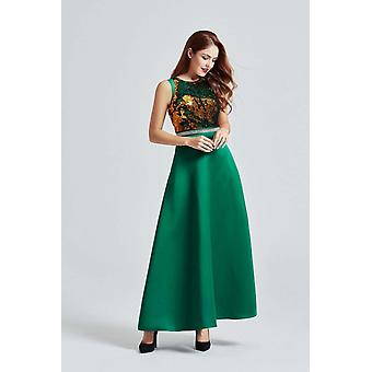 Green maxi bi-directional sequin dress
