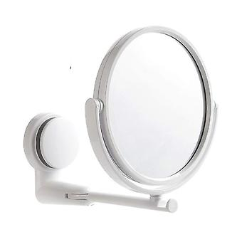 Wall Mount, Folding And Rotatable- Dual Arm Extend Makeup Mirror