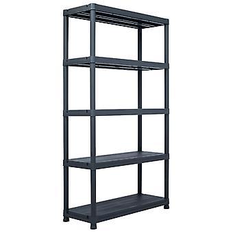 Storage shelf Black 500 kg 100 x 40 x 180 cm Plastic