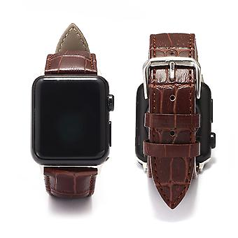 Apple Watch Bands Crocodile Pattern Leather Bands, Thin Replacement Wristband