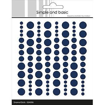 Enkla och grundläggande självhäftande emalj prickar mörkblå