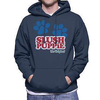 Slush Puppie Paws Logo De ursprungliga männen's Hooded Sweatshirt