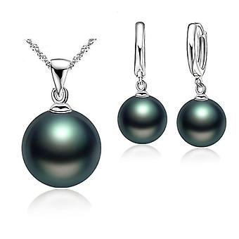 Smooth Wedding Sterling Silver Pearl Jewelry Fashion Jewelery Set