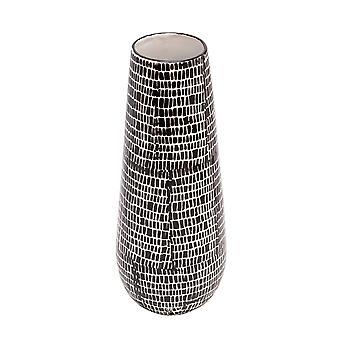 """Keramik Vase 18"""", schwarzes Kopfsteinpflaster"""