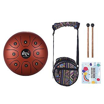 Mini 8-tone Steel Tongue Drum C Key Handpan Drum met Drum Mallets Bag