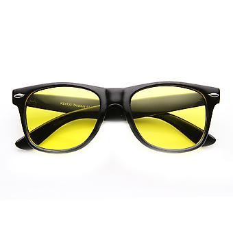Night-Driving Blænding Reducere Gul Tonet Lens Basic Horned Rim Briller