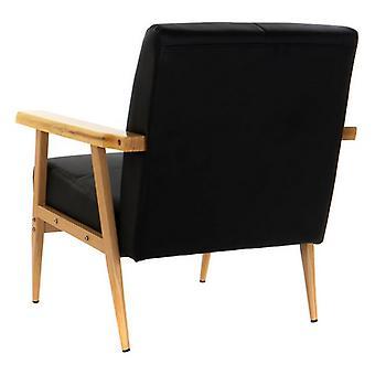 Armchair Dekodonia Black Wood Metal Polyurethane (68 x 75 x 78 cm)
