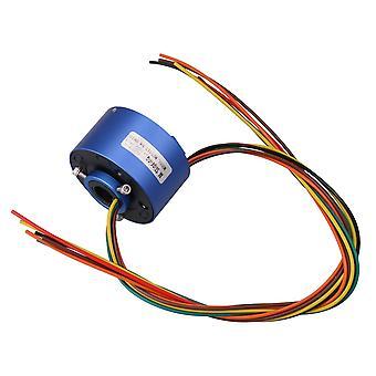6Way 380V 10A 12.7mm Dia Via Hole Capsule Slip Ring for Monitor Robotic
