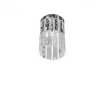 Foco De Diseño En Cromo Cristal Prisma 1 Bombilla