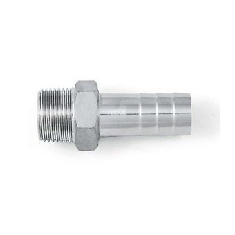 """Bsp 1 1/4"""" Sechskantschlauch Nippel / Schwanz - A4 (t316) Marine Grade Edelstahl - Kegelgewinde (bspt / R Thread)"""