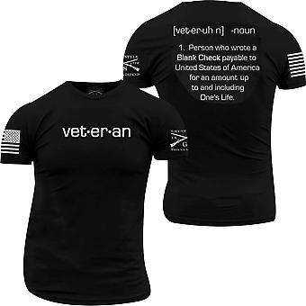 Grognement Style chèque en blanc T-Shirt-Black