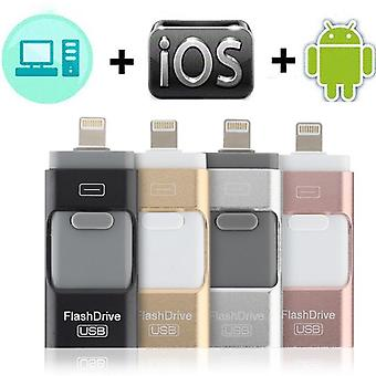 Usb-muistitikku Iphone X / 8 / 7 / 7 Plus / 6 / 6s / 5 / se / ipad Otg Pen Drive Hd -muistille