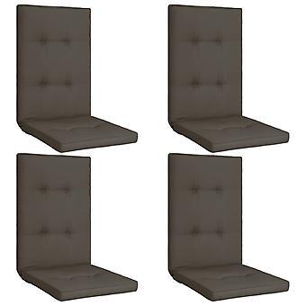 vidaXL hage stol utgave 4 stk. anthracite 120 x 50 x 5 cm