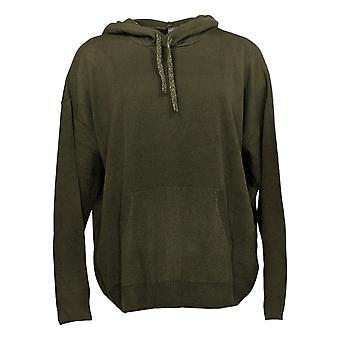 Zuda Women's Sweater Soft Hooded Pullover Long Sleeve Green A390240