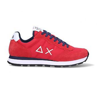 Running Sun68 Tom Solid Suede/ Nylon Red Sneaker Us21su07 Z31101