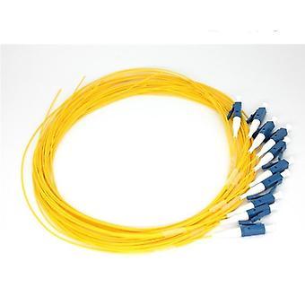 Simplex Lc/upc 9/125 Single Mode Fiber Optic Pigtail, 0.9 Mm Pvc Outer Jacket