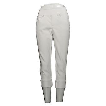 Belle af Kim Gravel Women's Petite Pants Cuffed Jeans White A345863