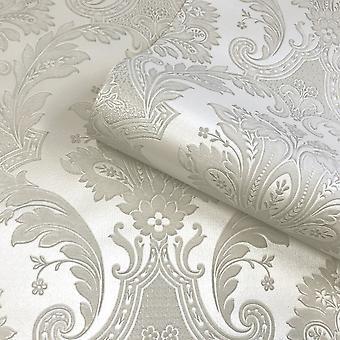 Amara Damask Wallpaper Cream Belgravia 7369
