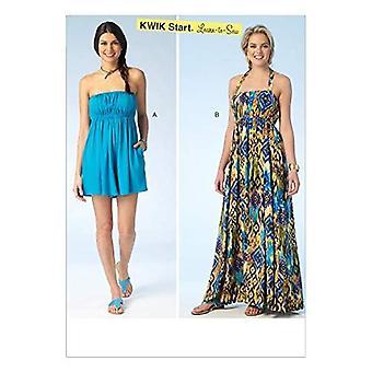 KWIK-SEW PATTERNS K4100 Misses' Romper & Dress, All Sizes in One Envelope (XS - XL)
