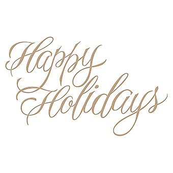 Spellbinders Glimmer Plate - Paul Antonio - Faux Happy Holidays Holiday 2018