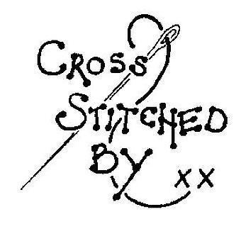 Cosido en cruz por sello montado en madera