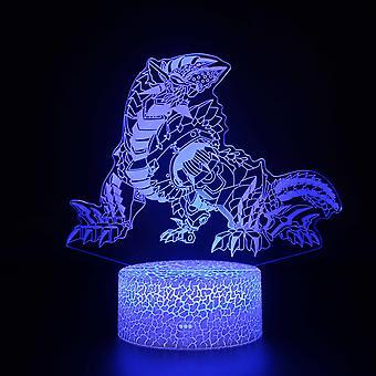 Lampy 3D z pilotem, lampa LED 16 Kolor Światło Ściemniane Przełącznik dotykowy USB / Wkład baterii, Dekoracja urodzinowa Świąteczny prezent dla dziecka Teen Woman Mężczyzna-#752
