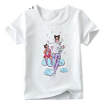 Camiseta de look da família, camiseta super estampada