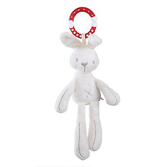 White Rabbit Baby Hanging Toys Children Rattle Toys With Chimes Soft Plush Rattling Doll