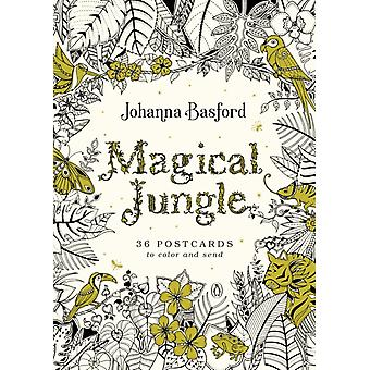 Magical Jungle 36 Postcards to Color and Send by Johanna Basford