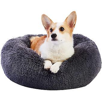 Hundebett Katzenbett Waschbar, Kuscheliges Donut Hundebett Rund, Kuschel Hundekissen Hundesofa für