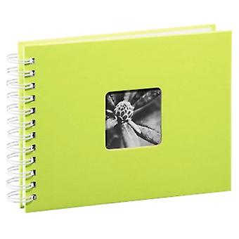 Hama Photo Album with 50Black Pages 25Sheets?24x 17cm, with Cut-Out for Insertable Picture) Kiwi (weiße Seiten),00002114