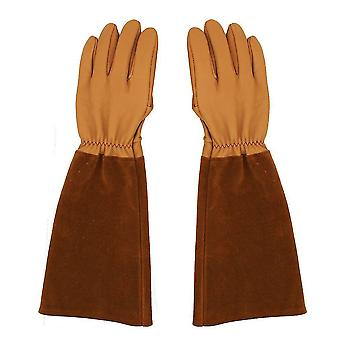 Cow Leather Anti Cut Gloves Potection Work Gloves For Gardening Bee Raising