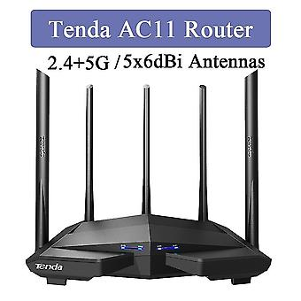 Tenda AC11 2.4+5GHz 1200Mbps Draadloze Router 5x6dBi High Gain Antennes Bredere dekking Gigabit