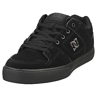 DC Shoes Pure Mens Skate Trainers en Noir Noir