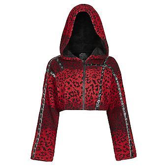 Punk Rave Hot Girl Leopard Fleece Jacket