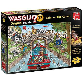 Wasgij Original 33 Calm on the Canal 1000 Piece Puzzle