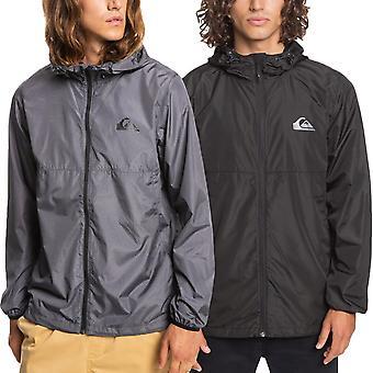 Quikislver Herre Everyday Casual Zip Up Elastisk Hood Windbreaker Jacket Coat