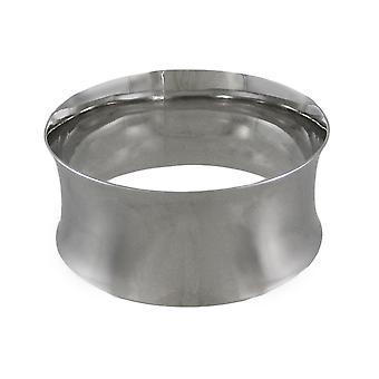 Chroom geplateerde holle Ring Bangle Bracelet