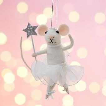 Fairy Mouse With Star Wand Christmas Decoration