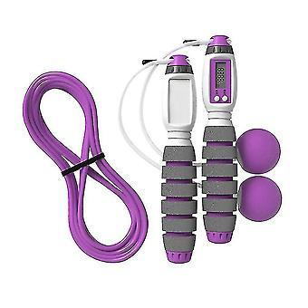 Electronic Skipping Rope Counter With Calorie-adjustable Fitness Skipping Rope (purple)