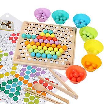 Kinder Spielzeug Holz Spielzeug Hände Gehirn Training Clip Perlen Brett Mathe Spiel Baby Early Educational